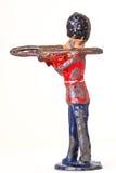 Оловянный солдатик с тромбоном - sideview Стоковая Фотография RF