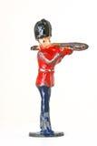 Оловянный солдатик с тромбоном - sideview стоковые фотографии rf