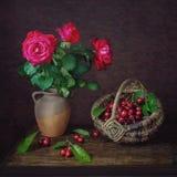 О розах и вишнях Стоковое Фото