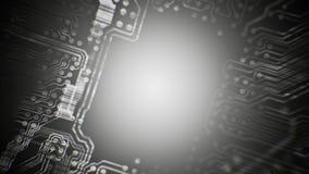 Одушевленный тоннель платы с печатным монтажом PCB технология серо Loopable иллюстрация вектора