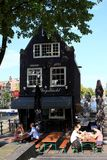 Паб Амстердама, Нидерланды Стоковые Изображения RF