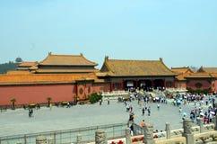 Павильоны пагод внутри комплекс Temple of Heaven в Пекине Стоковая Фотография RF