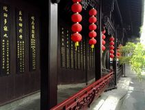 Павильон залы TCM Huqingyu старинных зданий Стоковое Фото