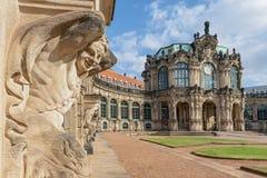Павильон карильона в Zwinger известный дворец в Дрездене, Германии стоковое изображение rf