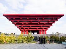 Павильон Китая экспо мира Шанхая стоковые фотографии rf