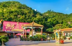 Павильон на 10 тысяч монастыре Buddhas в Гонконге Стоковое Изображение