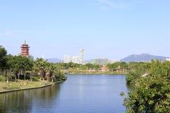 Павильон озером, саман rgb Xinglinge Стоковые Фотографии RF