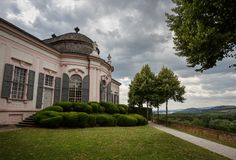Павильон сада XVIII века в парке аббатства Melk Melk, Нижняя Австрия стоковое фото