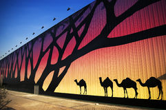 павильон 2010 экспо Африки shanghai Стоковое Изображение RF