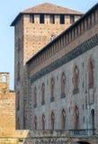 Павия, замок стоковое фото