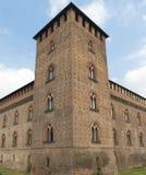 Павия (Италия): замок стоковая фотография rf