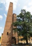 Павия (Италия): средневековые башни стоковое изображение