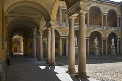 Павия - старый университет Стоковая Фотография