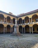 Павия, суд университета стоковое фото rf