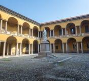 Павия, суд университета стоковая фотография rf
