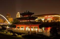 Павильон китайца John Deere стоковые фотографии rf
