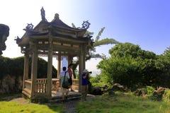 Павильон посещения фотографа частного сада в острове gulangyu Стоковая Фотография RF