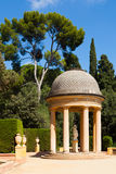 Павильон Danae на парке лабиринта в Барселоне стоковые фото