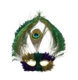 павлин маски mardi gras Стоковые Изображения