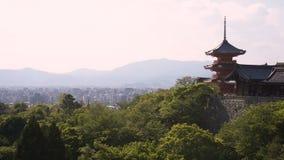 Пагода виска Kiyomizu-Dera буддийского акции видеоматериалы