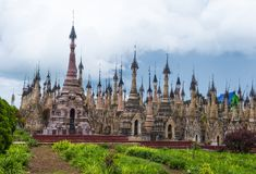 Пагода Мьянма Kakku Стоковое Фото