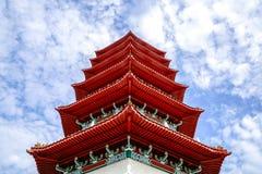 Пагода на китайском саде Сингапуре стоковое изображение rf