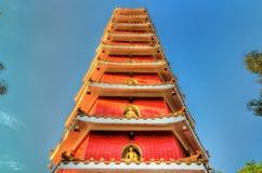 Пагода на 10 тысяч монастыре Buddhas в Гонконге Стоковые Изображения