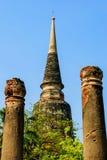 Пагода стародедовска в Таиланде Стоковое Фото