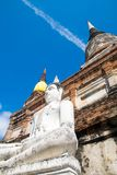 Пагода chai-mongkol на Wat Yai chai-mongkol Ayutthaya Таиланде стоковые фото