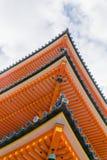 Пагода Kiyomizu крупного плана, Киото, Япония Стоковое Фото