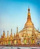 Пагода Shwedagon в Янгоне myanmar Стоковое Изображение RF