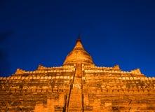 Пагода Shwesandaw Стоковые Изображения