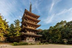 Пагода виска Daigoji в Киото Стоковое фото RF