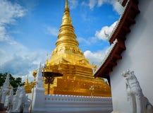 Пагода в виске, Nan, Таиланде стоковое фото rf