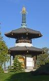 Пагода в парке Battersea, Лондоне, Англии Стоковое фото RF
