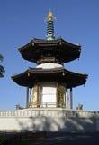 Пагода в парке Battersea, Лондоне, Англии Стоковые Фотографии RF