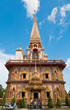 Пагода в chalong wat или виске chalong Стоковые Изображения RF