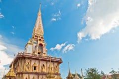 Пагода в chalong wat или виске chalong Стоковое Фото