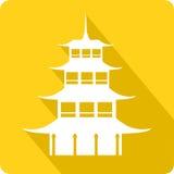 Пагода, иллюстрация Стоковое Изображение