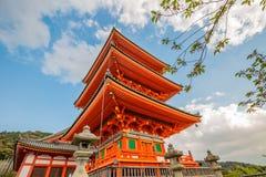 Пагода Киото Kiyomizu стоковое изображение rf