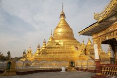 Пагода Мандалай Мьянма Kuthodaw Стоковое фото RF
