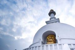Пагода мира в городе Vaishali стоковая фотография