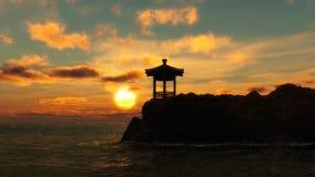 Пагода на береге моря Стоковые Фото