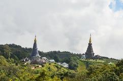 Пагода на верхней части горы Стоковое Изображение