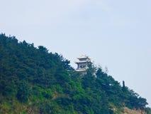 Пагода на горе Laoshan в Qingdao стоковое изображение