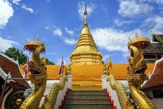 Пагода на тайском виске, phra wat то suthep doi Стоковое Фото
