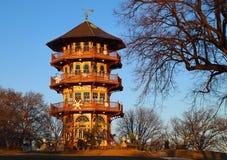 Пагода парка Patterson стоковое фото rf