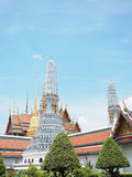 Пагода 2 син с красной крышей на лете Таиланда Стоковое фото RF