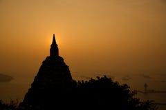 Пагода силуэта Стоковые Изображения