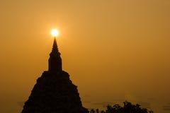 Пагода силуэта Стоковое Фото